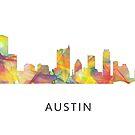Austin, Texas Skyline WB1 von Marlene Watson