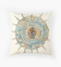 "sea-urchin, illustration of the story ""Ligea"" Throw Pillow"