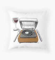 Dinner Music Throw Pillow