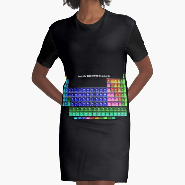 #Mendeleev's #Periodic #Table of the #Elements Graphic T-Shirt Dress