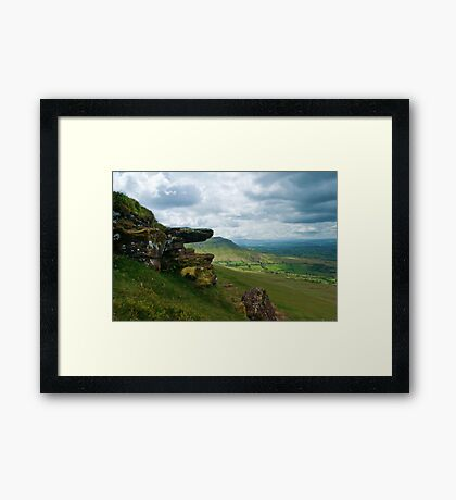 Hay Bluff Framed Print