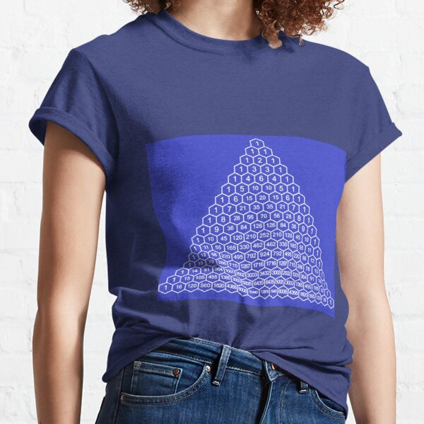In mathematics, Pascal's triangle is a triangular array of the binomial coefficients Classic T-Shirt