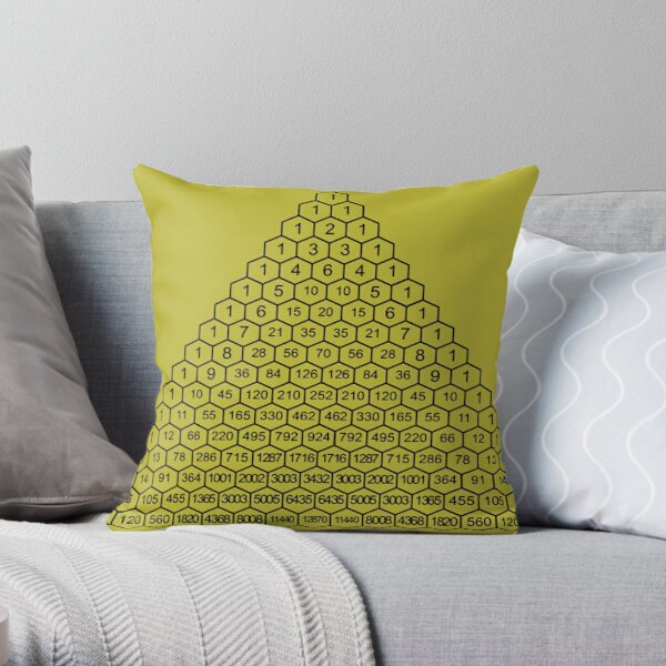 In mathematics, Pascal's triangle is a triangular array of the binomial coefficients Throw Pillow