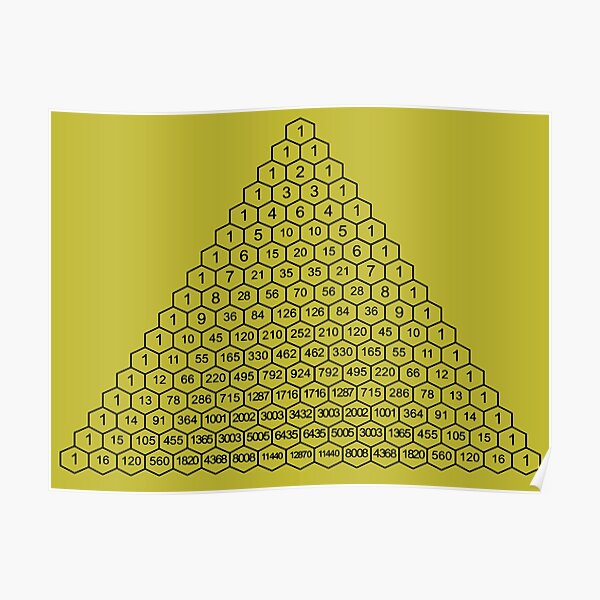 In mathematics, Pascal's triangle is a triangular array of the binomial coefficients Poster