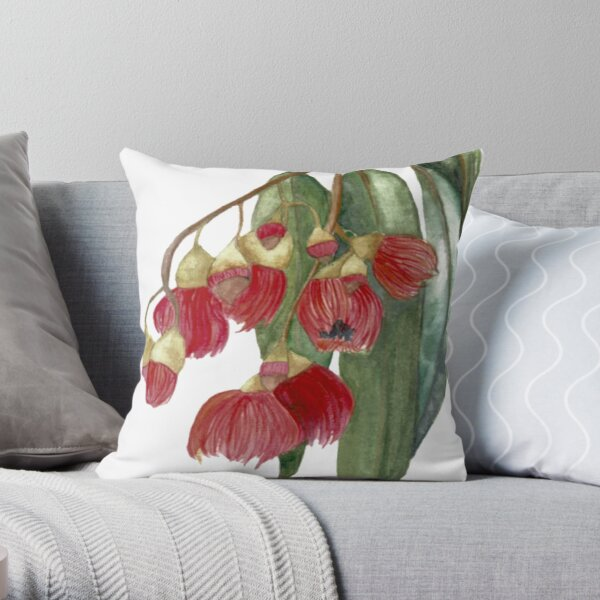 Watercolour Gum tree Throw Pillow