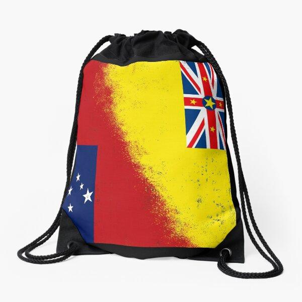 Samoa Flag Brick Wall Design Messenger Bag