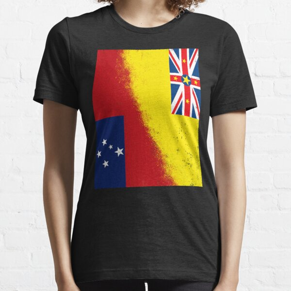 Samoa and Niue Flags. RUSTIC. Oceania and South Pacific Islands Essential T-Shirt