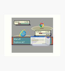 Browser Battle Art Print