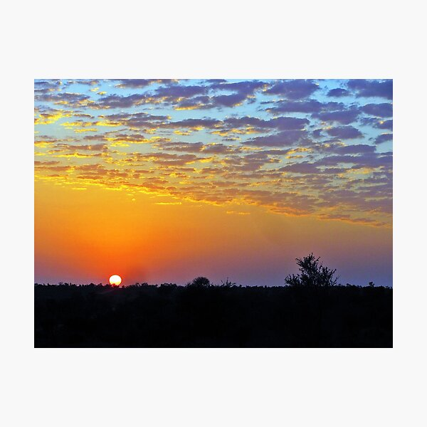 African Sunrise Photographic Print