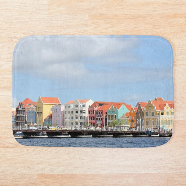 Colorful Houses of Willemstad, Curacao Bath Mat