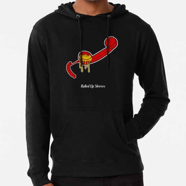 'Telephone Treacle' Artwork with Central Rolled Up Sleeves Logo  Lightweight Hoodie