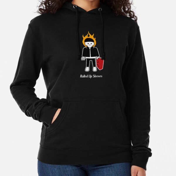 'Two Steps' Artwork with Central Rolled Up Sleeves Trademark Lightweight Hoodie