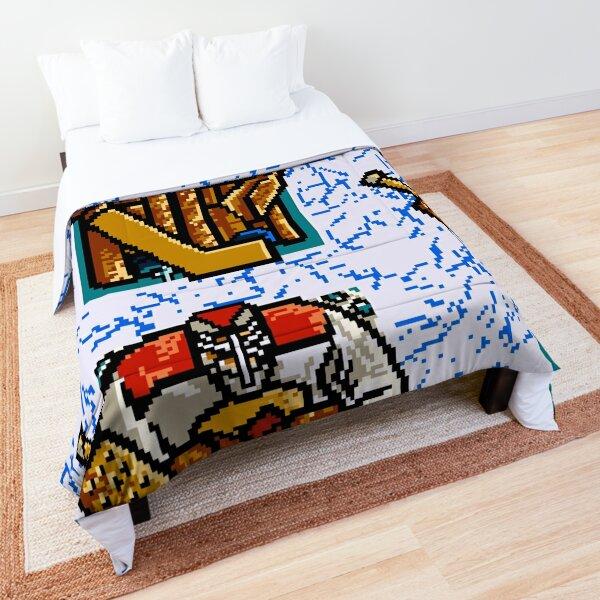Pixel Hockey Goalie Comforter
