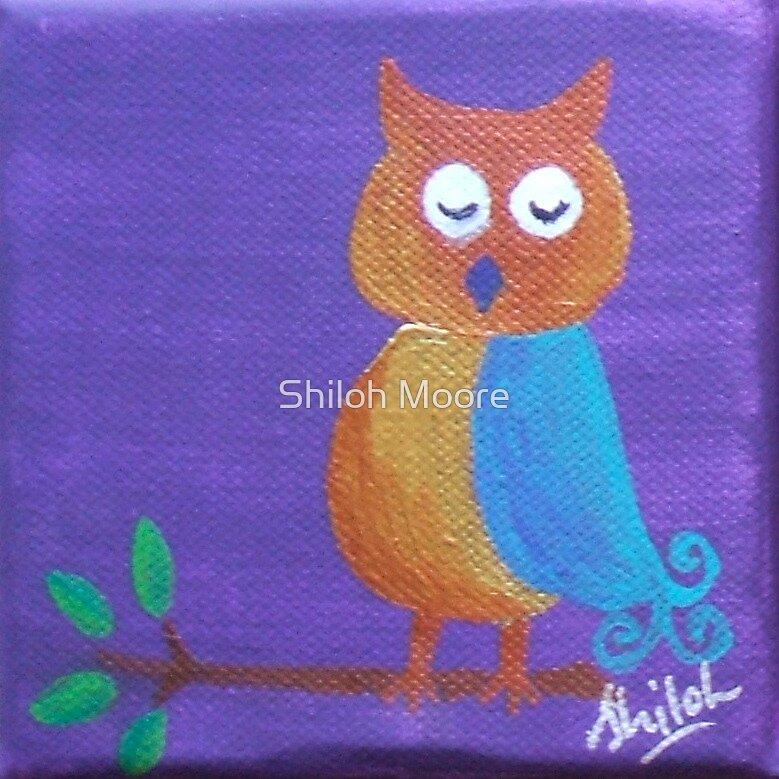 'Sleepy Owl' by Shiloh Moore