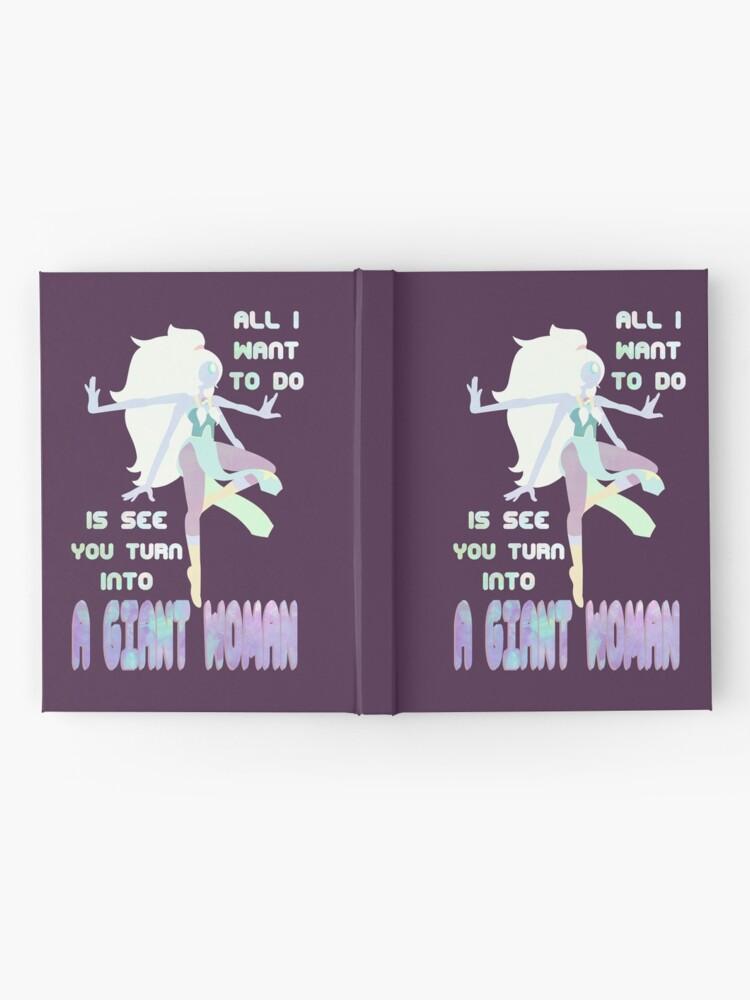 Alternative Ansicht von Riesige Frau Notizbuch