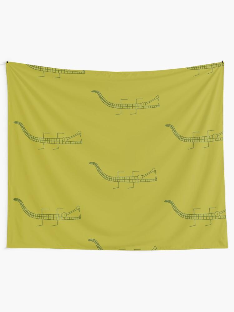 Alternate view of Alligator line Tapestry