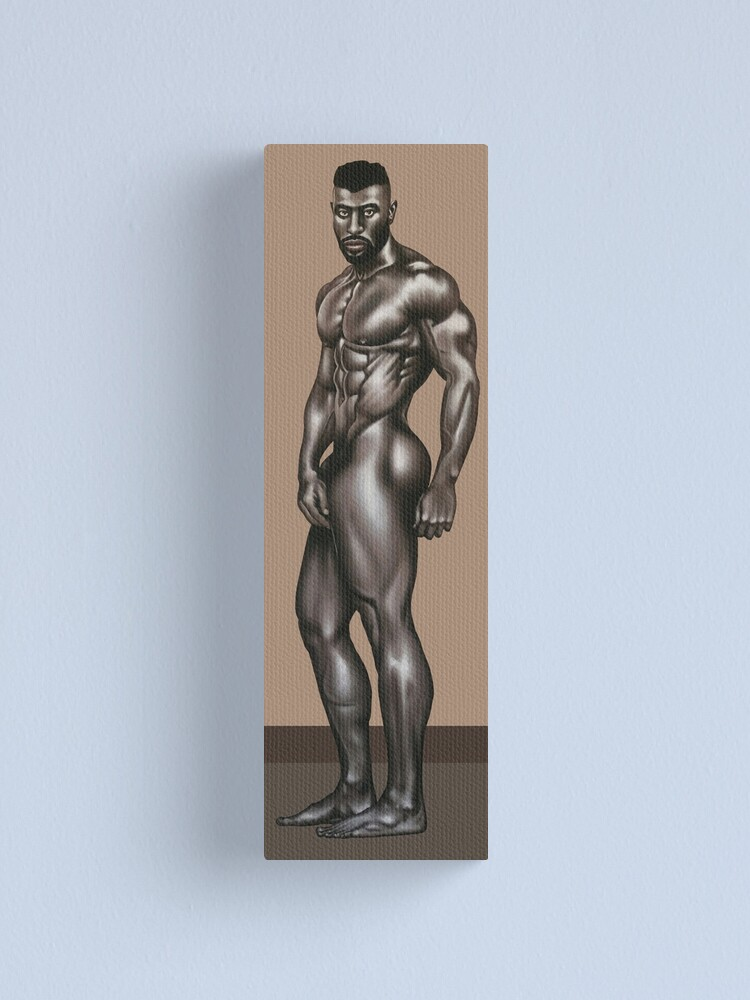 Alternate view of African Apollo Canvas Print