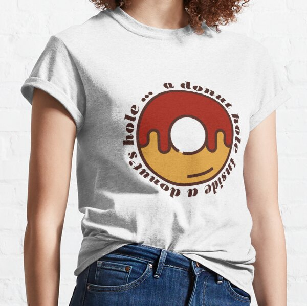A Donut Hole Inside A Donut's Hole, Knives Out Classic T-Shirt