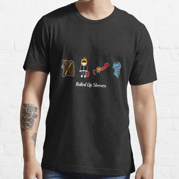 Collective Artwork with Central Rolled Up Sleeves Logo 2 Essential T-Shirt