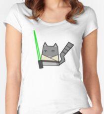 Skywalker Cat Women's Fitted Scoop T-Shirt