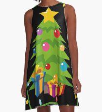 OMG Santa Coming  A-Line Dress