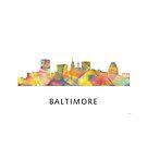 Baltimore, Maryland-Skyline WB1 von Marlene Watson