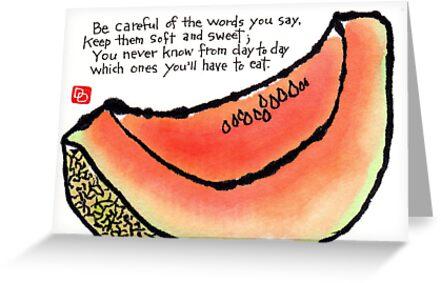 Cantaloupe Words by dosankodebbie