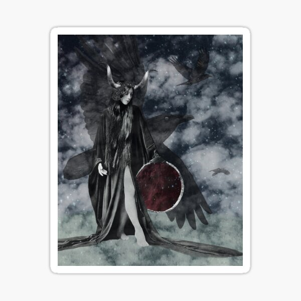 Queen of the Ravens Sticker