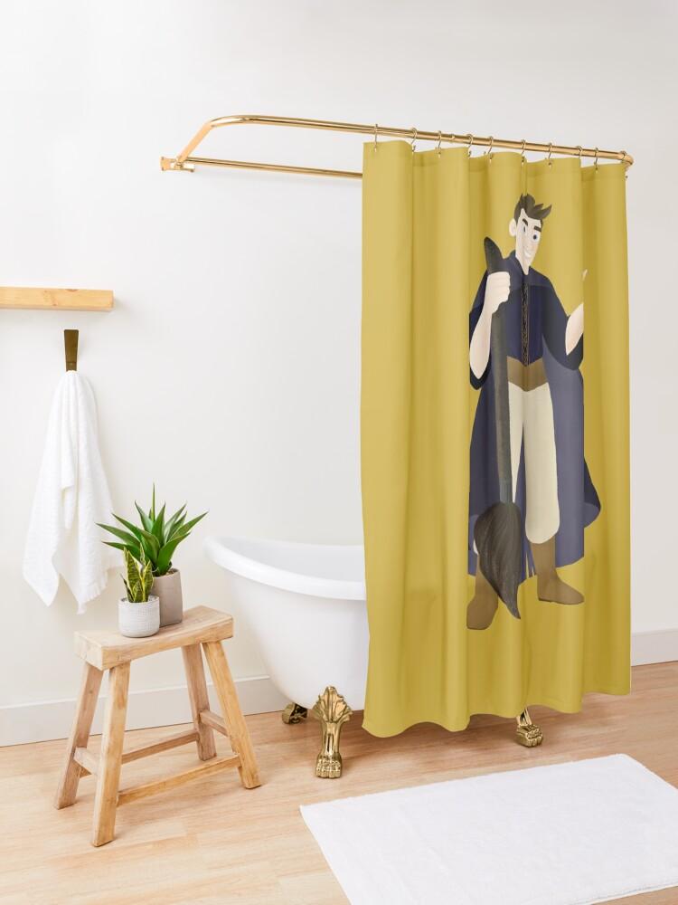 Rideau de douche ''Sorcier': autre vue