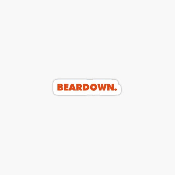 Beardown. Sticker