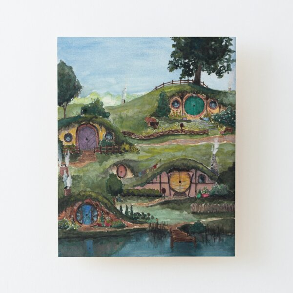 The Shire Wood Mounted Print