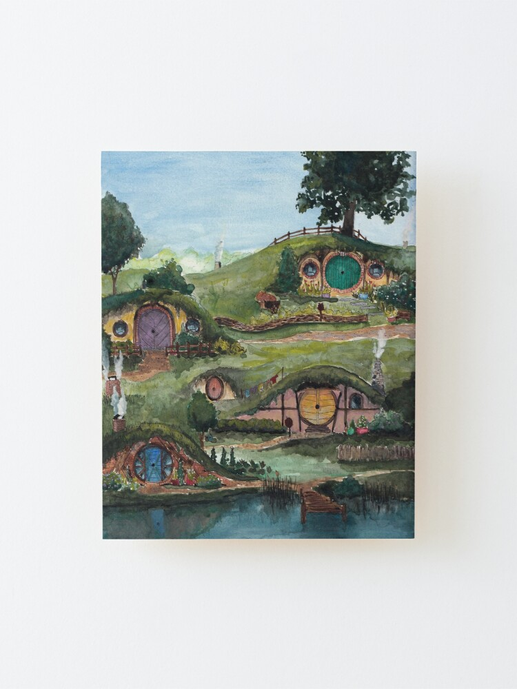 Alternate view of The Shire Mounted Print
