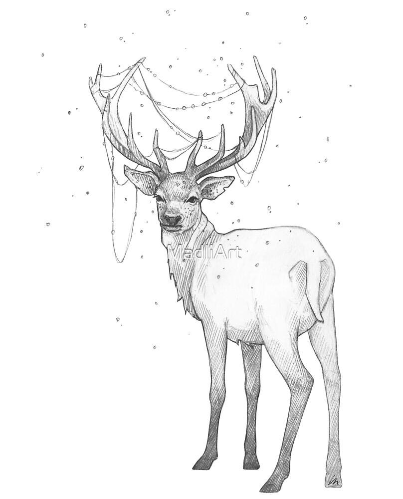 Christmas Reindeer by MadliArt