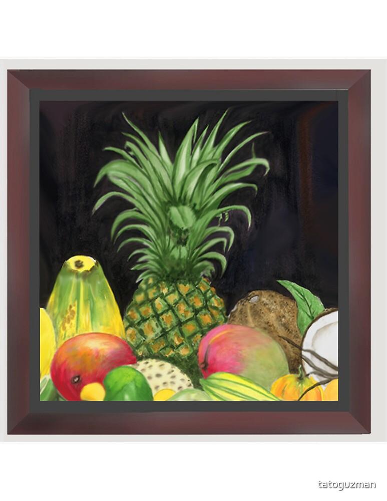 Tropical Pineapple & Fruitfriends by tatoguzman