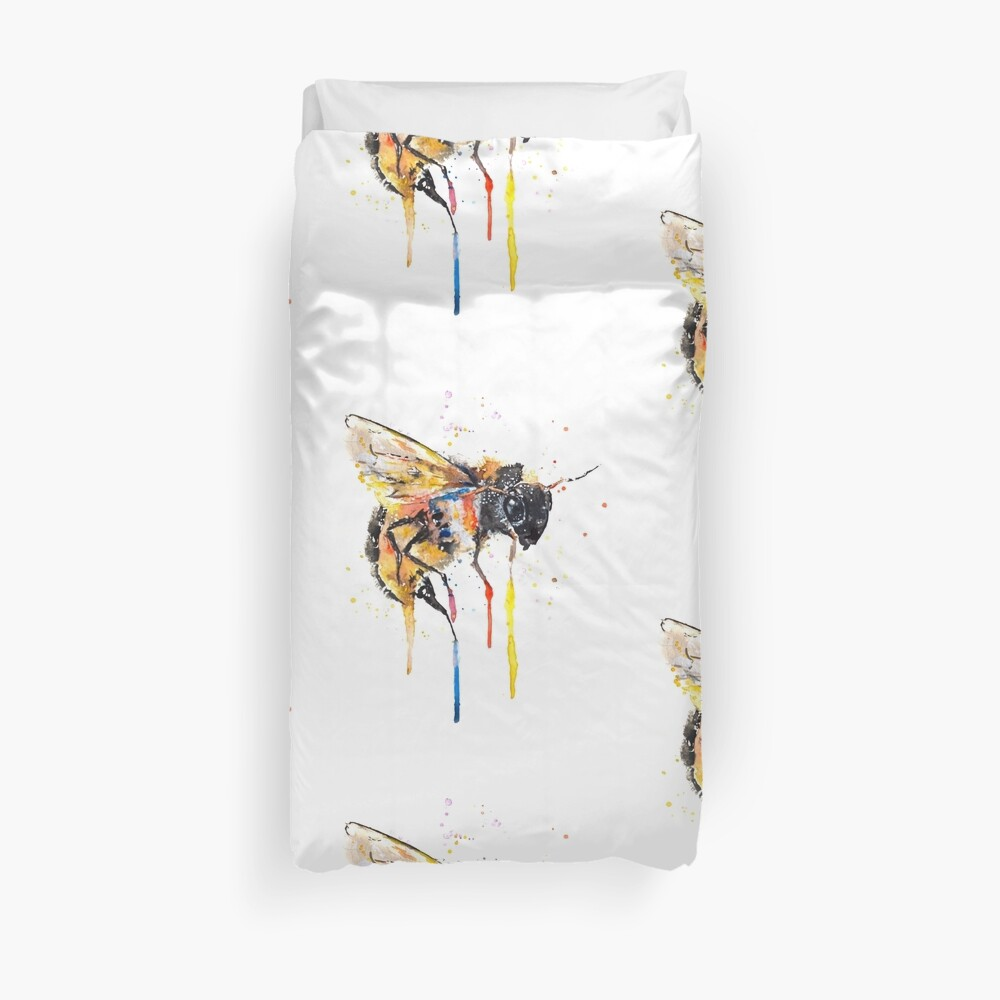 Don`t Worry BEE happy Duvet Cover