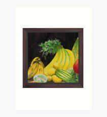 Crested Banana Joint Cluster Art Print