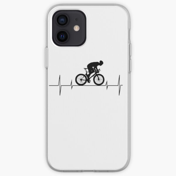 Cycling Heartbeat, Bicycle, Gift for Bikers, Biking Gift, Cycling Gift, Funny Biking Shirt, Funny Cycling iPhone Soft Case