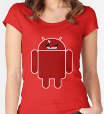 Super Meat Droid Women's Fitted Scoop T-Shirt