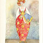 Illustration, Albanian traditional  costume by vimasi