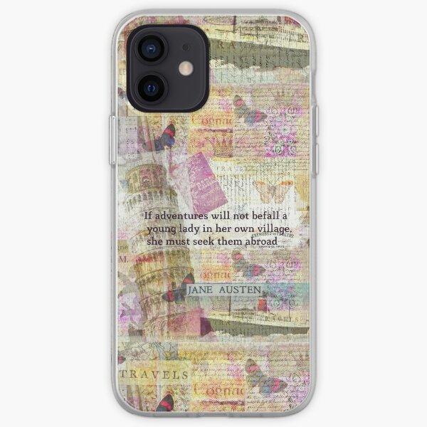 Jane Austen travel adventure quote iPhone Soft Case