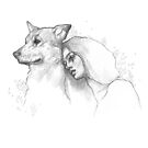 Girl and Dog by MadliArt