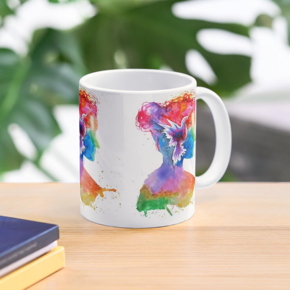 Inner Lands - Woman Silhouette with bird Mug