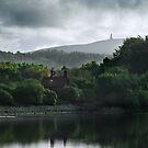 Jubilee Tower from Abbey Village, Lancashire by Steve  Liptrot