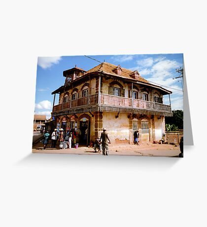 A house in Ambalavao Greeting Card