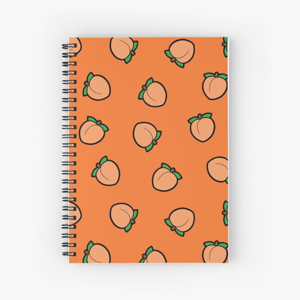 Peach Emoji Pattern Spiral Notebook