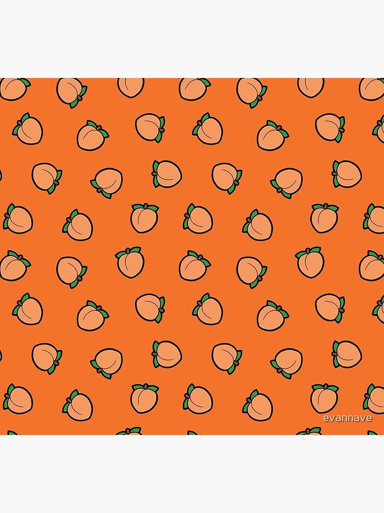 Peach Emoji Pattern by evannave