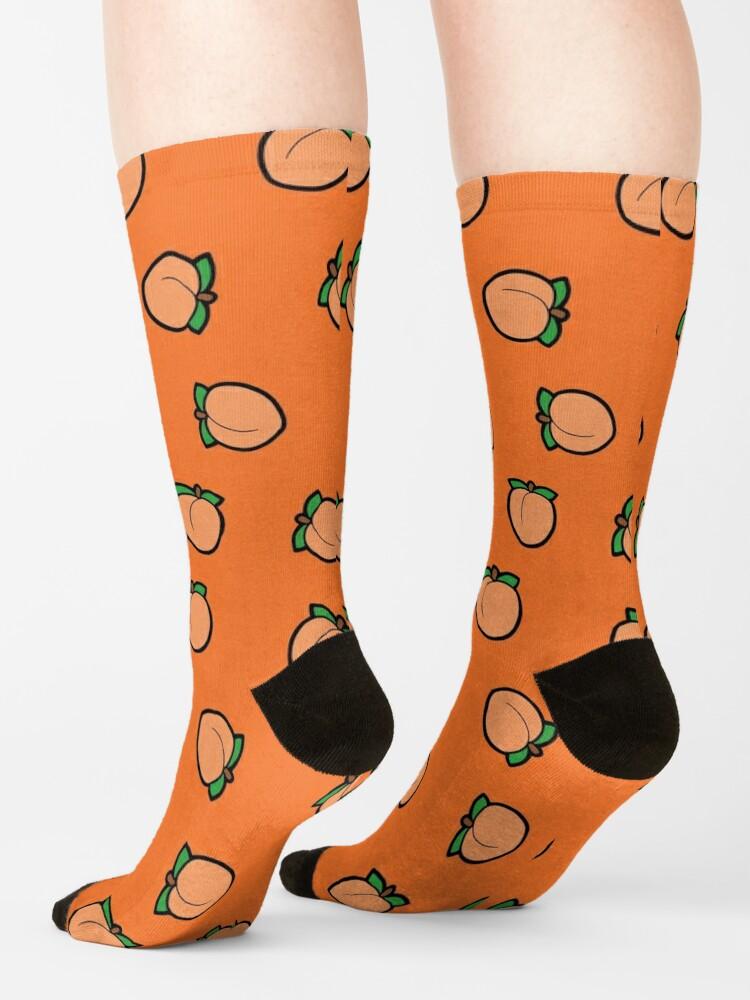 Alternate view of Peach Emoji Pattern Socks