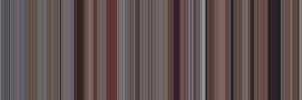 Moviebarcode: Office Space (1999) [Simplified Colors] by moviebarcode