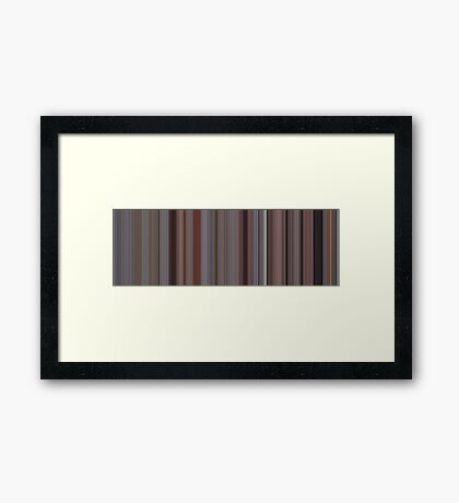 Moviebarcode: Office Space (1999) [Simplified Colors] Framed Print