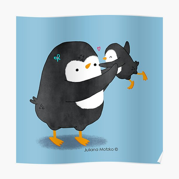 Penguin Mom and Penguin Kid Poster